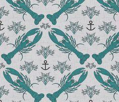 lobster_marine fabric by holli_zollinger on Spoonflower - custom fabric