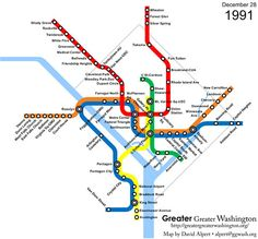 Greater Greater Washington... Evolution of the Metrorail in DC (1976-2010)