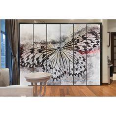 αυτοκόλλητα ντουλάπας :: Αυτοκόλλητο ντουλάπας artistic butterfly