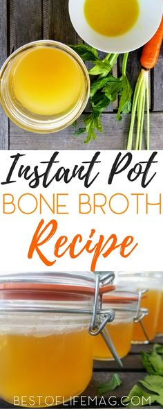 You can prepare this crock pot bone broth in fifteen minutes and let it slow cook. This bone broth recipe also converts to an instant pot bone broth recipe! Healthy Beef Recipes, Easy Soup Recipes, Delicious Dinner Recipes, Crockpot Recipes, Drink Recipes, Keto Recipes, Healthy Soups, Ketogenic Recipes, Slow Cooker Bone Broth
