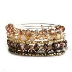 Alex and Ani Let It Glow Set Of 6 Bracelets - Russian Gold