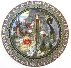 BYLINY Russian PLATE Legend Scarlet Flower THE ENCHANTED GARDEN #60-B24-5.1