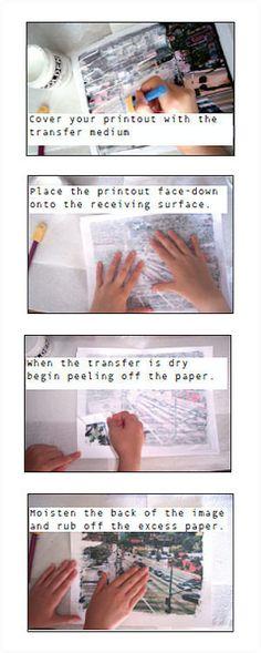 Basic inkjet transfer using mod podge - the details