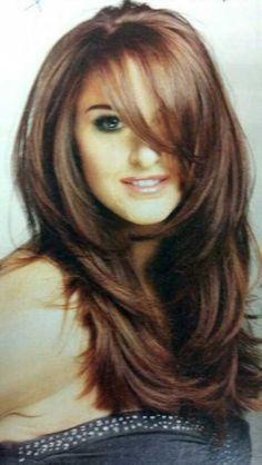 15.Long Hair with Bangs