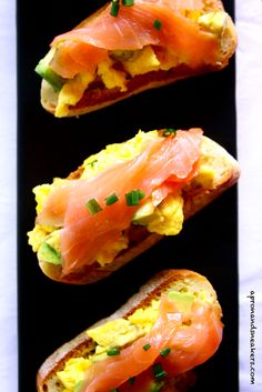 Avocado, Salmon & Egg Crostini