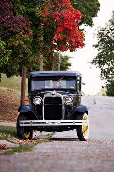 Perfect shot Hannibal Missouri Vintage Car  by reefbubbles, via Flickr