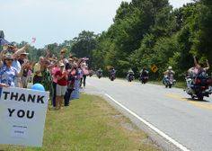 Honoring their service -- Visiting Marines from Camp LeJeune, N.C., and the Marine Corps Upstate Wounded Warrior Regiment passed by the Southern Wesleyan University campus. http://www.swu.edu/about-swu/news/honoring-their-service/#.U6si_5RdWSo