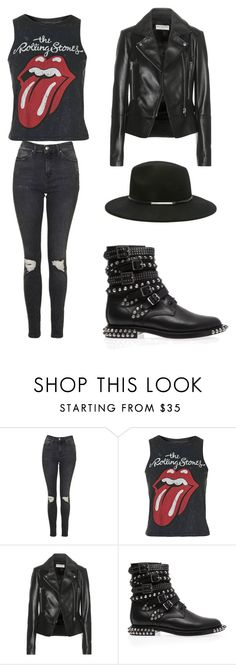 """"""""""" by rafah-oliveira on Polyvore featuring moda, Topshop, Balenciaga, Yves Saint Laurent e Forever 21"""