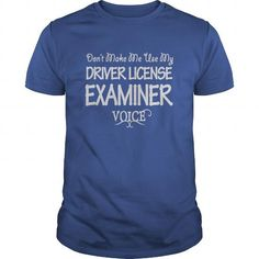 Driver License Examiner Keep Calm or I Will Use My Voice T Shirts, Hoodies…