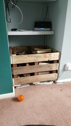 Pallet crate. Perfect for storing wood