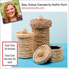 Create a canister out of a recycled can - dollarstorecrafts.com