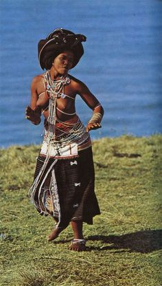 """Xhosa woman of marriageable age. Image included in the publication """"African Elegance"""" by Alice Mertens & Joan Broster. Published by Purnell in Tribal People, Tribal Women, Cultures Du Monde, World Cultures, African Tribes, African Women, African Culture, African History, Tribal Fashion"""