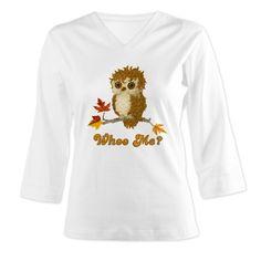 Whoo Me Autumn Owl 3/4 Sleeve T-shirt