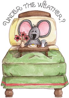 under the weather mouse Well Images, Cute Images, Get Well Wishes, Get Well Soon, Get Well Cards, Owl Art, Digi Stamps, Pet Birds, Graphic Illustration
