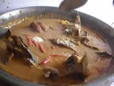 Tiga Dégué au Poisson Fumé - (Smoked Fish in Peanut Sauce) Recipe from Mali) - Serve hot, with fresh rice, either on the side, or as a bed on which you ladle the stew over the top......