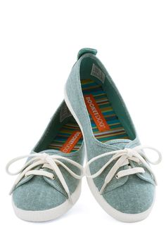Walk of the Town Flat in Turquoise, #ModCloth