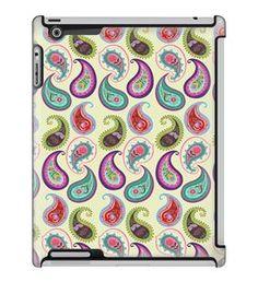 Uncommon LLC Pim-Pimlada Pop Paisley Cream Deflector Hard Case for iPad 2/3/4 (C0050-TF)