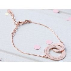 Personalized+Intertwined+Chain+Bracelet in rose gold