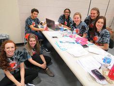 Student Council volunteers Chace Baxter, Ekata Desai, Maddie Stover, Alexis Lemieux, Kailey Helton. — at Beavercreek High School.