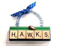 Seattle Seahawks Scrabble Tile Ornament