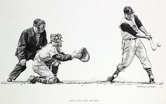 1961-Bill Mazeroski, art by Robert Riger | 1961-Bill Mazeros… | Flickr