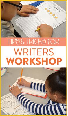Tons of tips and tricks for setting up writer's workshop in your kindergarten, first or second grade classroom!