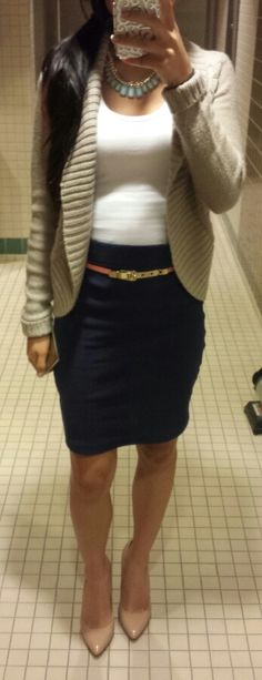 Business casual with gold details