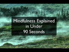 Video: Mindfulness Explained in Under 90 Seconds | Nicola Kluge, Ph.D., M.Sc.