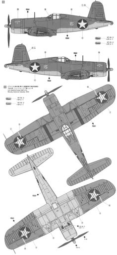 F4U Corsair Two-Color Scheme Color Profile and Paint Guide
