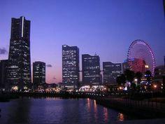 Yokohama,横浜夜景写真・夕方からが最高です