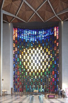 Coventry Cathedral - Baptistry window designed by John Piper