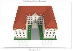 Model Sanierung Schloss Pförten Brody Hofseite 1 AARZ - Atelier Architektury Radosław Żubrycki