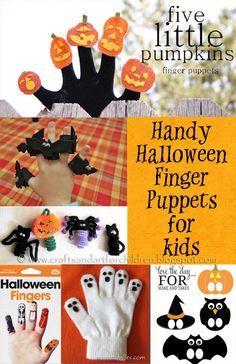 Hand-y DIY Halloween Finger Puppets for Kids