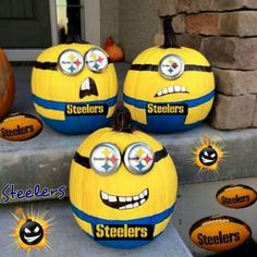 painted pumpkins Make no-carve minion pumpkins from the movie despicable me! It is so fun painting them and they are great for a Halloween decoration. Diy Halloween, Minion Halloween, Holidays Halloween, Halloween Pumpkins, Happy Halloween, Halloween Decorations, Pumpkin Decorations, Preschool Halloween, Holiday Crafts