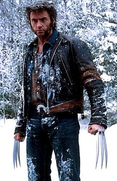 "Hugh Jackman as Wolverine.  One of the first publicity photos of Jackman from ""X-Men"".  One of my favourite pieces of movie casting."