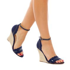 Kiley navy weges - ShoeDazzle