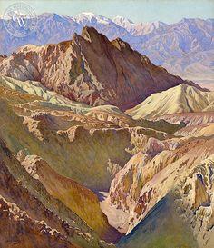 Gunnar Widforss - Golden Valley, Death Valley