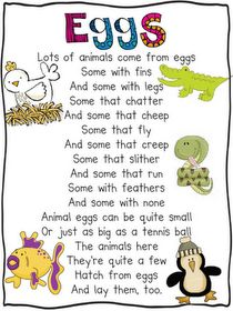 Oviparous Animals Poem - Great lesson idea on this website that includes a mentor text, writing prompt, and craftivity. Love the science journal idea! Kindergarten Poems, Preschool Songs, Preschool Science, Science Classroom, Teaching Science, Science Activities, Preschool Ideas, Science Poems, Kindergarten Units