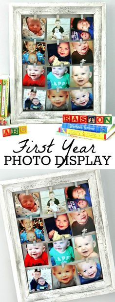 First Year Photo Display - Happy-Go-Lucky