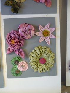 Candace Kling Faux Flowers, Diy Flowers, Flower Decorations, Fabric Flowers, Paper Flowers, Ribbon Art, Fabric Ribbon, Ribbon Crafts, Flower Crafts