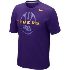 Nike LSU Tigers Football Team Issue T-Shirt - Purple