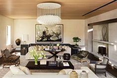 Contemporary Living Room by McAlpine Booth & Ferrier Interiors and DA AD in Nashville, Tennessee