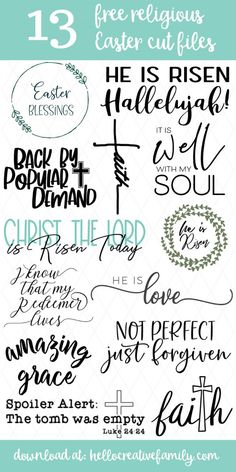13 Free Religious Easter Cut Files Including Easter Blessings SVG File - We're making Easter crafting easy! Find 13 free religious Easter cut files that you can cut using - Easter Cards Religious, Cricut Svg Files Free, Circuit, Cricut Tutorials, Cricut Ideas, Easter Crafts, Cutting Files, Silhouette Cameo, Free Silhouette