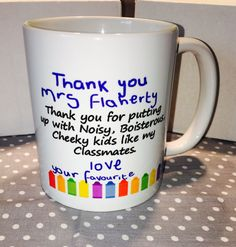 Novelty Mugs, End Of Year, Teacher Gifts, Gifts For Him, My Etsy Shop, Christmas Gifts, Heaven, Homemade, Printed
