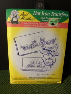 Vintage Aunt Martha's Hot Iron Transfer 3213 by doyourememberwhen