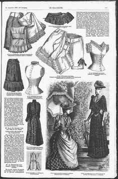 Gracieuse. Geïllustreerde Aglaja, 1890, aflevering 22, pagina 175 underwear (patterns available but site is in Dutch and they are a small scale)