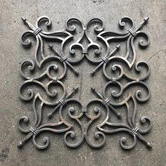 No photo description available. Wrought Iron Decor, Wrought Iron Gates, Iron Windows, Iron Doors, Window Grill Design, Door Gate Design, Steel Art, Iron Art, Metal Artwork