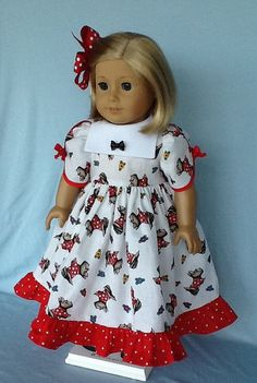 18 inch doll dress half slip and hair clip. Fits by ASewSewShop