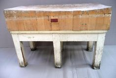 vintage french butcher's block #kitchen