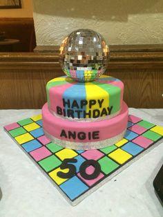 Disco 50th cake